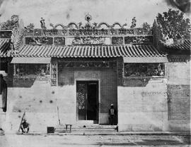 [Canton, China] 11)  Part of Joss House where 47th B.N.I. are quartered, the Chinese Inscription ...