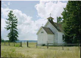 A church at Alexandria, approximately twenty miles south of Quesnel.