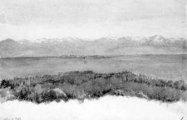 [Looking Across Straits To Olympic Mountains From Dallas Road]