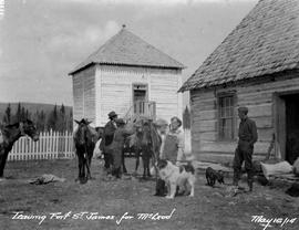 """Leaving Fort St. James for McLeod""; Archie Tait, et al."