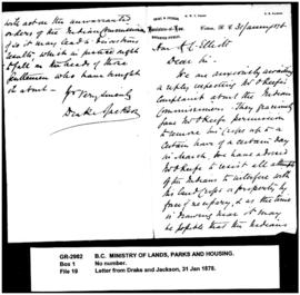 Letter from Drake and Jackson, Barristers-at-Law, Victoria, to the Hon. H.C. Elliott, re O'K...