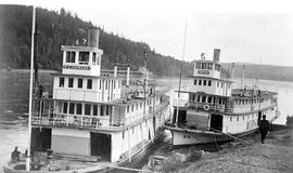 SS BC Express And The SS Bx Tied Up At South Fort George