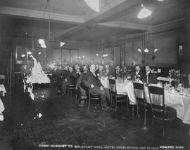 """Comp. banquet to Mr. Grant Hall, Hotel Revelstoke, Dec 15 1902."""